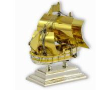 Ezüst ajándéktárgy -  Ezüst vitorlás hajó
